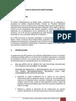 Proyecto Educativo Institucional Colombia Artes