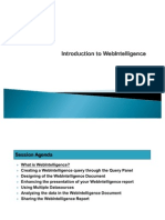 Introduction to Webi D