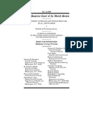 HHS SCOTUS Mandate Question | Medicaid | Patient Protection