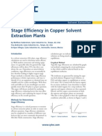 Stage Efficiency in Copper Solvent Extraction Plants
