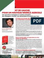 Les propositions du Front de Gauche de l'Agriculture