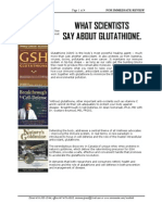 What Scientists Say About Glutathione.