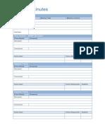 Meeting Minutes Sample