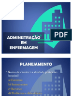 ADMINISTRAÇÃO EM ENFERMAGEM