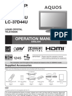Manual Sharp Lc-37d44u