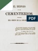El despojo de los cementerios. Opúsculo del Obispo de la Concepción. (1872)