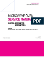 Service Manuals LG Microwave MS3447GRS MS3447GRS Service Manual