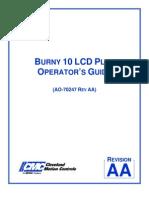 Burny 10 LCD Plus Operator Guide