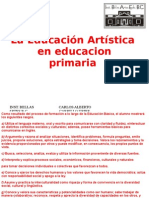 la educación artística en educación primaria