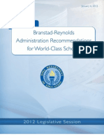 Branstad-Reynolds Administration Recommendations for World-Class Schools in Iowa