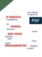 O MÁGICO PODE R DO PENSAMENTO