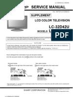 Sharp u Lc-32d43u Lcd Tv Supplemental Manual