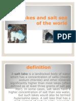 Salts Lakes and Salt Sea of the World