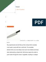 Knife Sharpening Tutorial