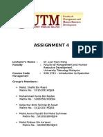 Assignment 4 Om