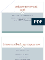 Money and Banking n