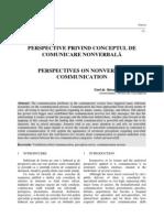 perspective privind conceptul de comunicare nonverbală