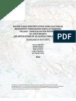Yustinus Adityawan_hydrogeology and Resistivity Survey