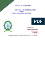 Edge-Enhanced Data for Gsm Evolution Full Report