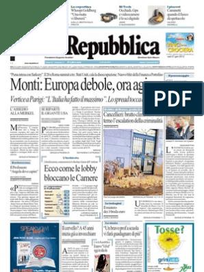 La Repubblica 07 01 12
