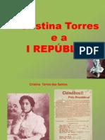 Cristina Torres e a I Republica - militância e ensino