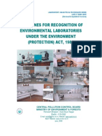 Guidelines for Recognition of Env Labs