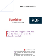 Synthese Rapport Securite Sociale 2011