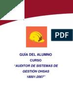 Guia Alumno Auditor Sistemas Gestion OHSAS 18001 2007