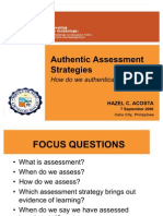 Authentic Assessment Strategies (Acosta)