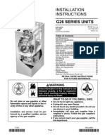 Lennox G26 Installation Instructions