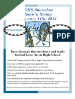 LOHS Snowshoe Romp 'n Stomp 2012
