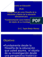 FE Act final Fundamentación filosófica del Problema científico
