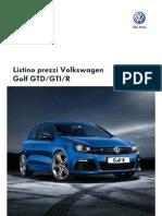 Listino Golf GTD GTI R