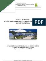 Edital OFICIAL 01_2012_Processo Seletivo dos Cursos Técnicos