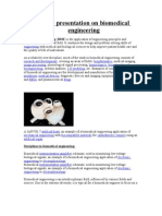 A Paper Presentation on Bio Medical Engineering