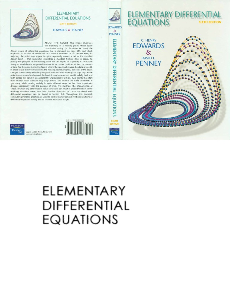 Elementary Differential Equations 6th Edition | Differential Equations |  Equations