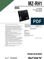 Sony MZ-RH1 Service Manual