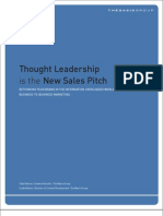 Thought Leadership is the New Sales Pitch