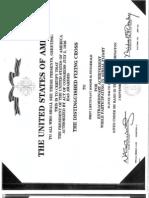 FitzGerald Distinguished Flying Cross Citation