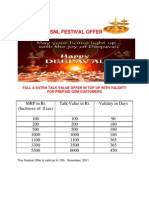 Festival Offer Diwali 25.10.11