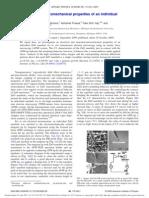 In Situ Probing of Electromechanical Properties of an Individual ZnO Nanobelt