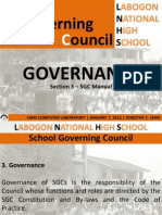 DepEd School Governing Council Manual - Governance