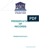 Preservation of Records - Proni Preservation Policy