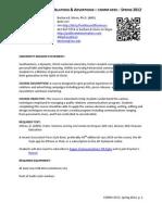 COMM 4333 Writing for PR & Advertising Spring 2012