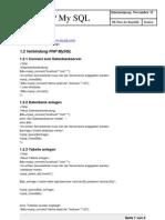 PHP 04 Mysql Teil 1