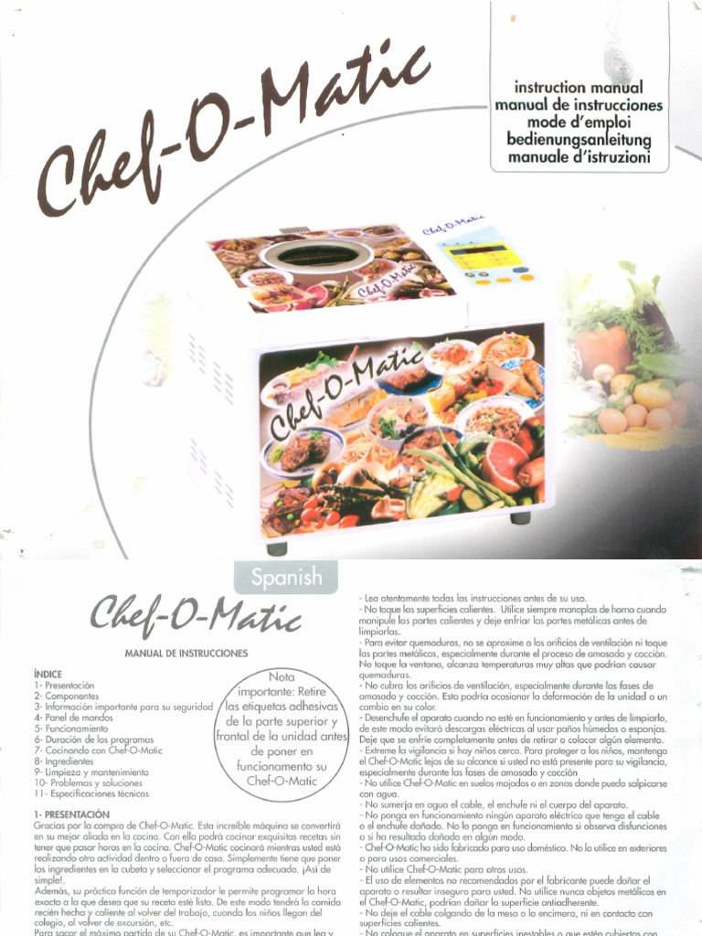 Chef o matic manual - Chef o matic carrefour ...