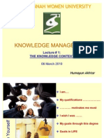 Chapter 1 - The Knowledge Context