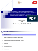Provisionnement et définition des fonds propres afférents au référentiel Solvabilité II d'une compagnie d'assurance IARD. Analyse de l'impact sur la valorisation d'un portefeuille IARD