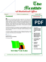 Zambia Inflation Statistics - October 2008