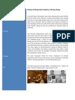 History of Restaurant Industry